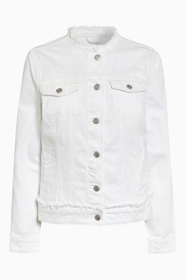 Next collarless jacket £35