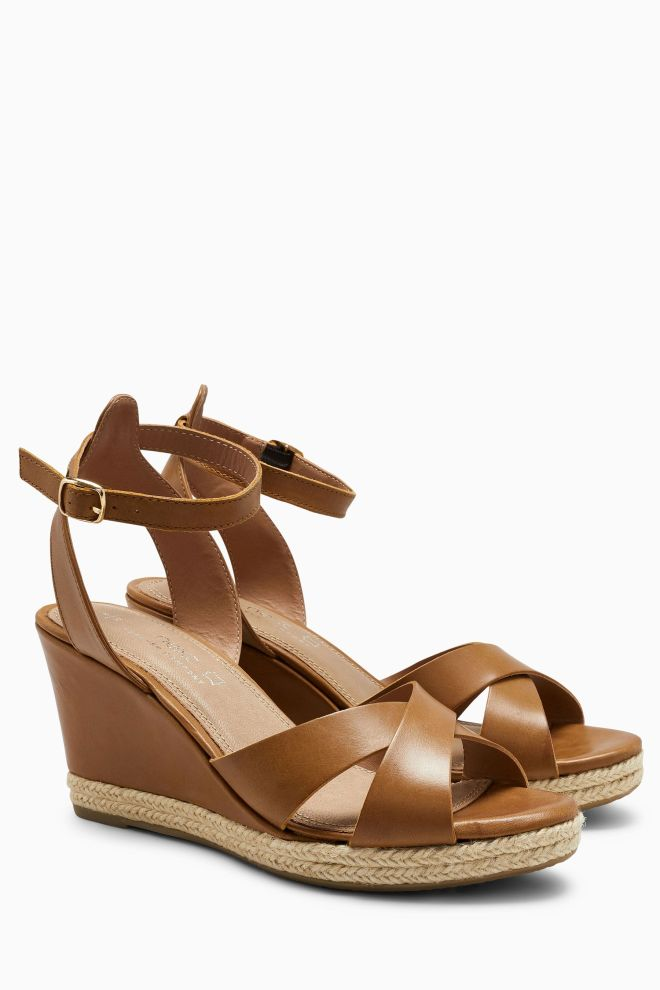 Next leather wedges £50