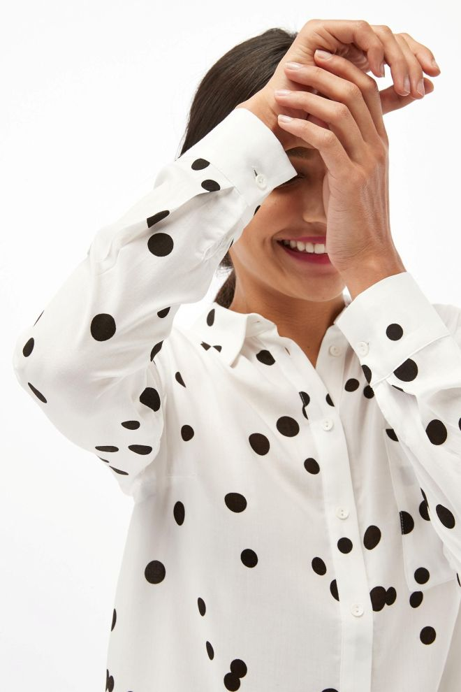 Next Soft printed spot shirt £26