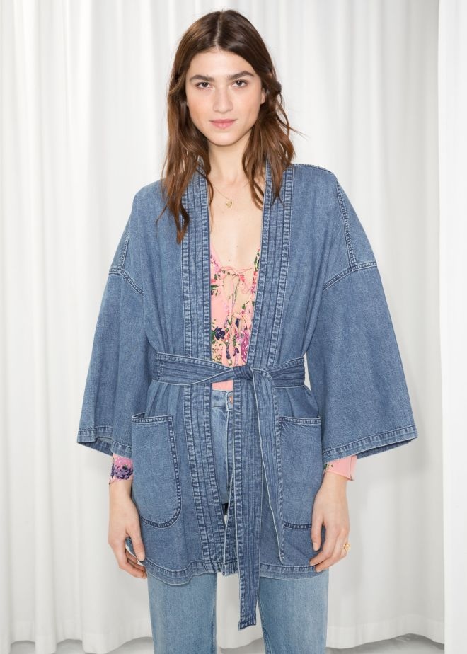 & Other Stories Denim Kimono £69