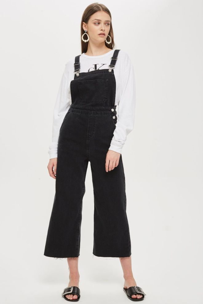 Topshop Cropped Wide leg Dungarees £49