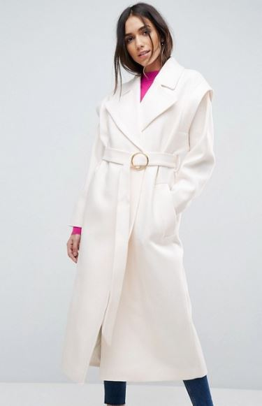 Asos 80's belted coat £68, was £85