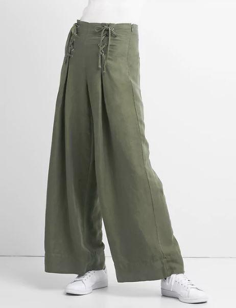 Gap High Rise wide leg linen pants £34.99, were £49.95
