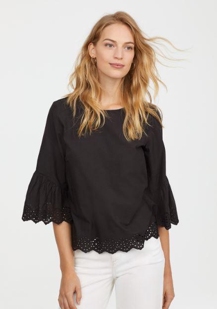 H&M Trumpet sleeve blouse £17.99