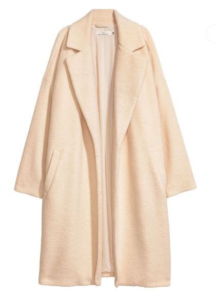 H&M Wool-blend coat £40, was £79.99