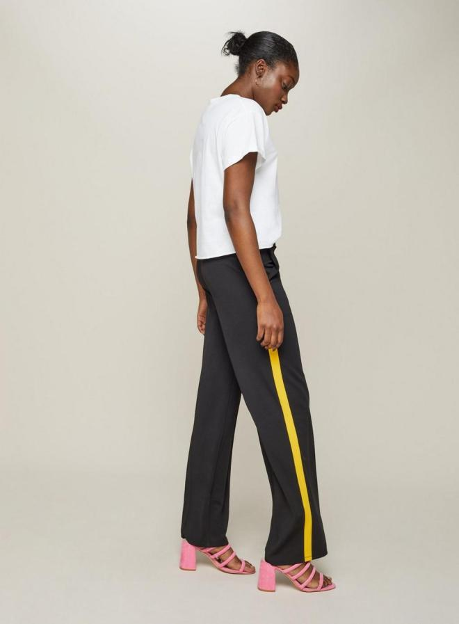 Miss Selfridge yellow side stripe £28