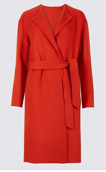 M&S belted coat £78, was £119