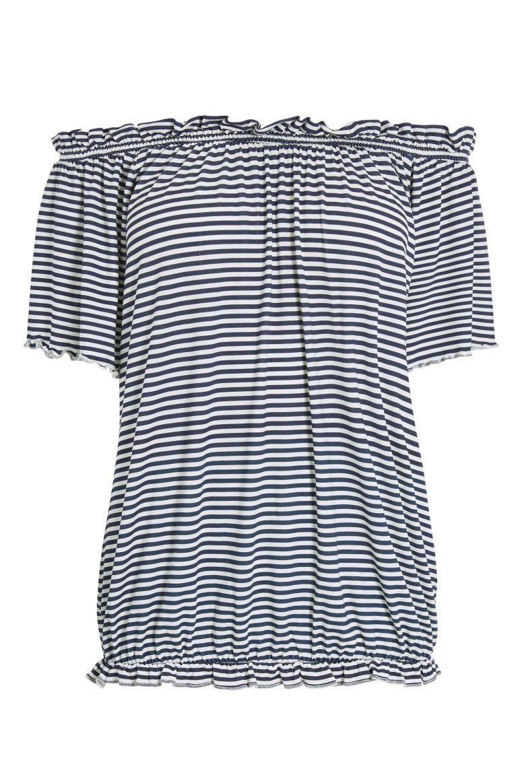 Monochrome Stripe Bardot Top £15