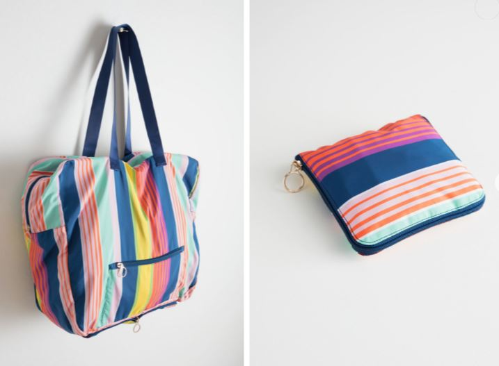 & Other Stories Striped Duffle Tote £27
