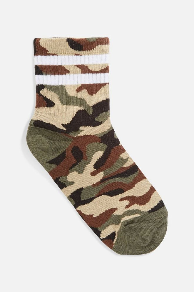 Topshop Camoflage Sporty Tube Socks £3.50