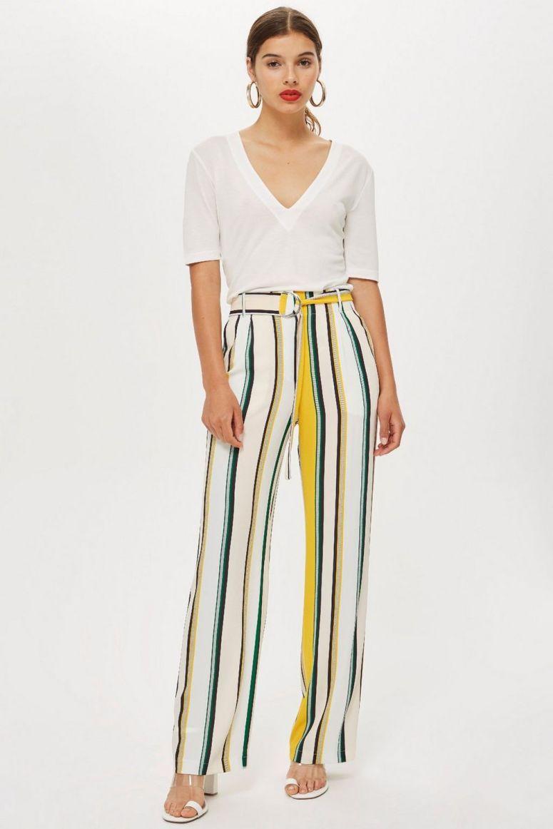 Topshop Stripe Wide leg trousers £39
