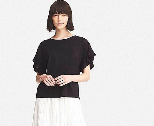 Uniqlo frill sleeve short sleeve tee £9.90