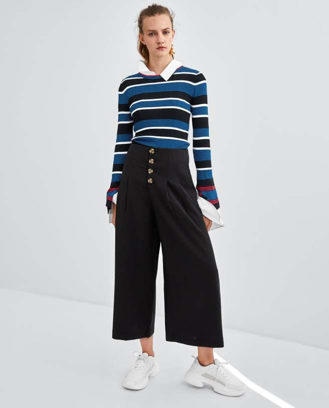 Zara cropped trousers £29.99