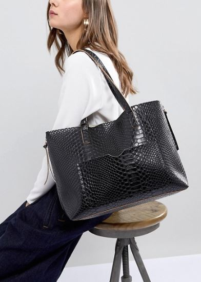 Glamourous at Asos Black Snake Shopper £26