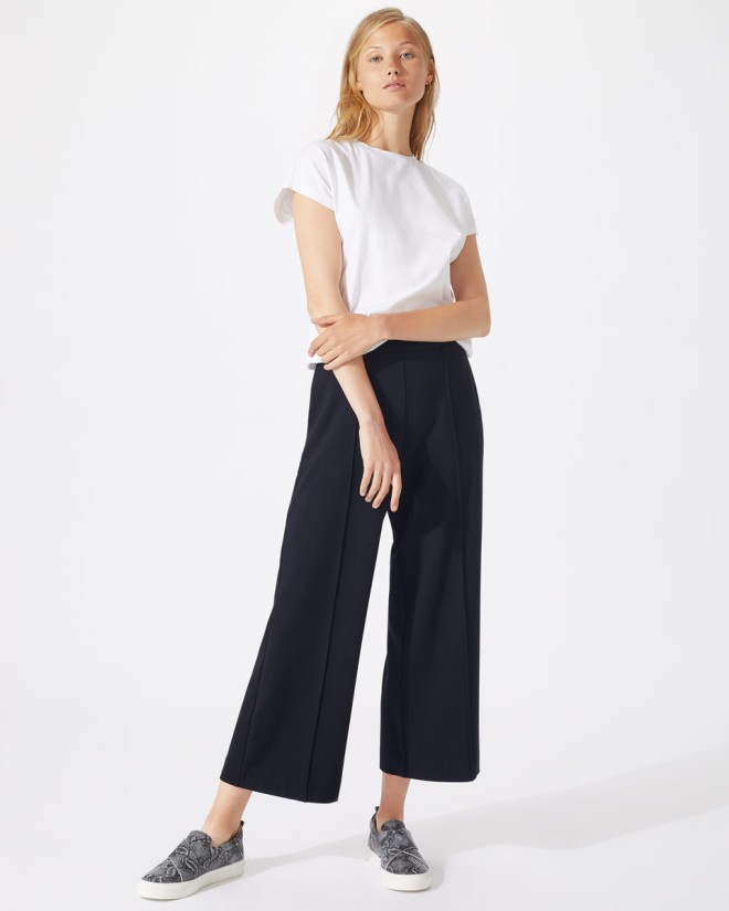 Jigsaw Sports Luxe Wide leg crop trousers £98