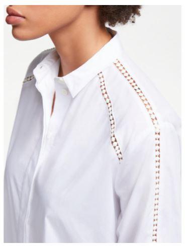 John Lewis Collar Crotchet Lace insert shirt £59