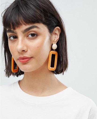 Mango at Asos Resin earrings £12.99