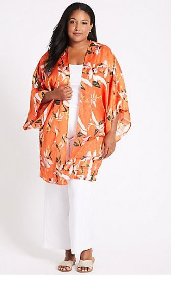 M&S Curve Floral Print sleeve kimono top £39.50
