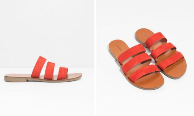 & Other Stories Trio Suede strap sandals £59