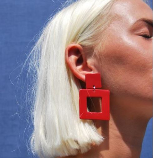 Studio B Red Square Patch Night Time Holiday earrings £23