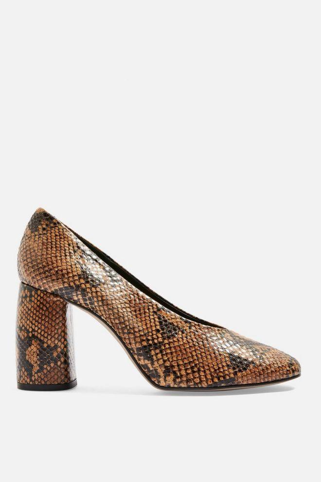 Topshop Gwenda Snakeskin Court shoe £65