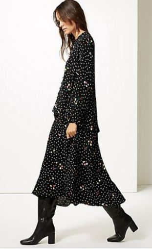 Floral Print Drop Waist maxi Dress £45
