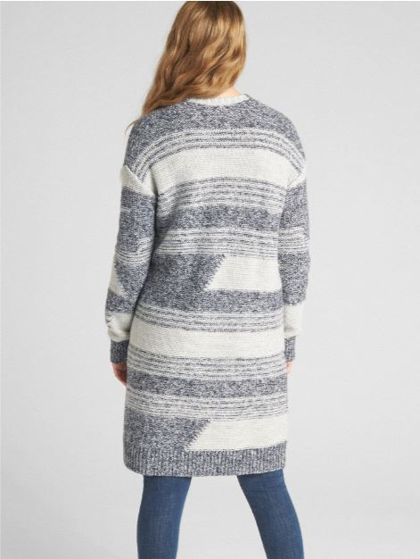 Gap Textured Open-Front Pattern Cardigan Sweater £29.98, was £59.95