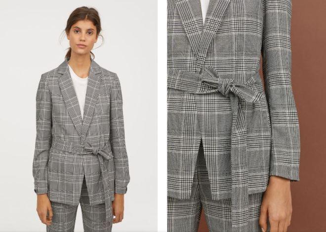 H&M jacket with tie belt £34.99
