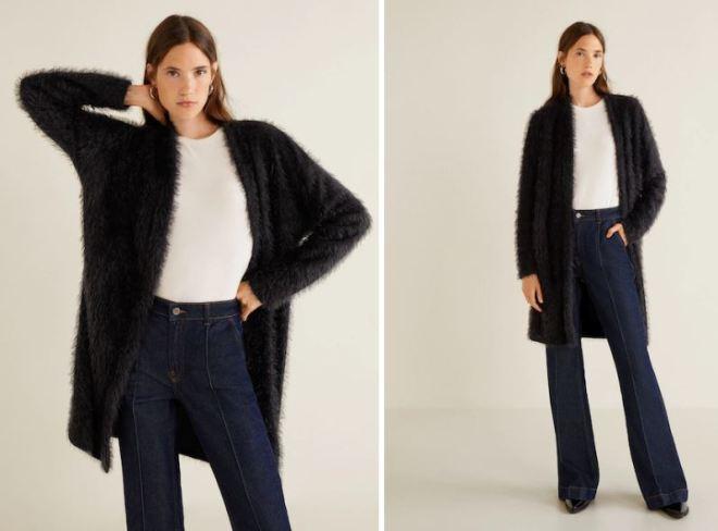 Mango Faux Fur knit cardigan £35.99