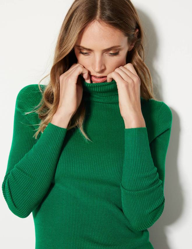 M&S Ribbed Polo Neck £17.50
