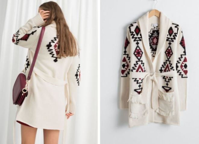 & Other Stories Southwestern Knit Belted Cardigan £85