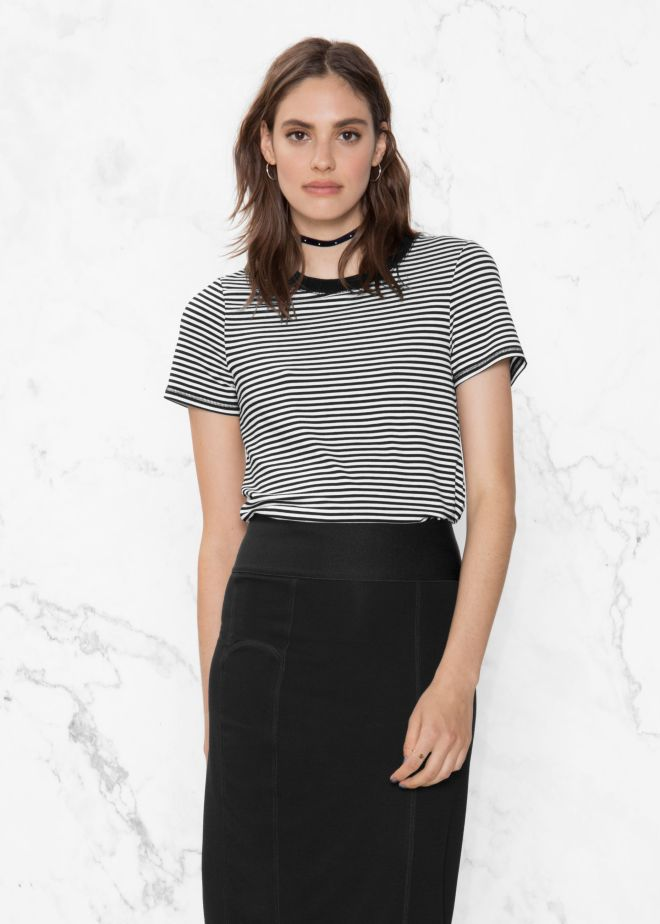 & Other Stories Stripe Tee £13, was £23