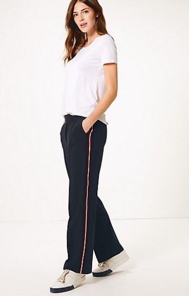 Straight leg side stripe trouser £35