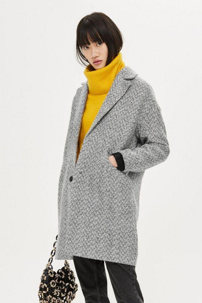 Topshop Herringbone Check Coat £65