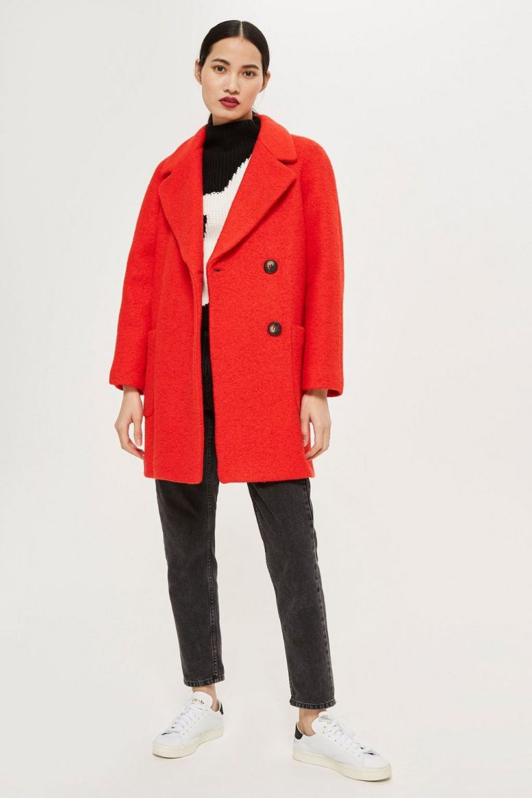 Topshop Seamed Boucle Coat £85