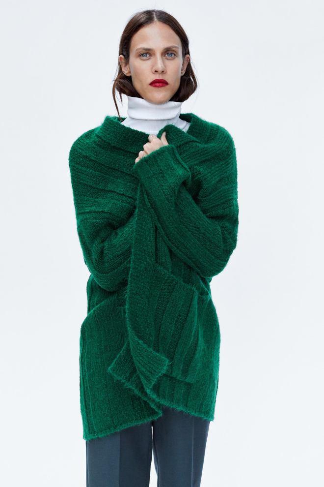 Zara Loose Fitting ribbed Cardigan £39.99