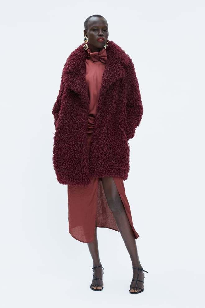 Zara Soft Faux Fur Coat £69.99