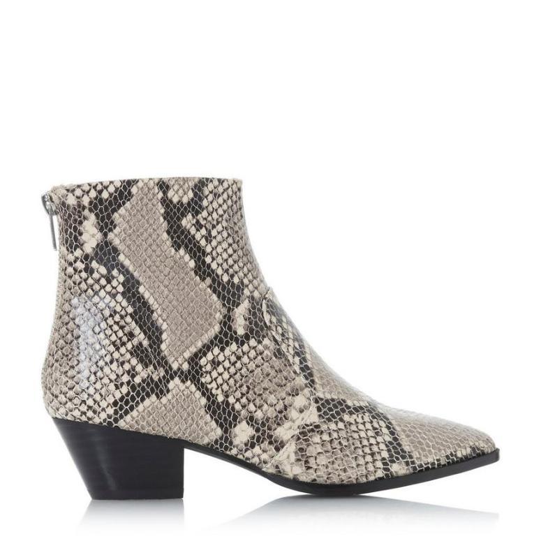 Dune Steve Maddon Cafe Sm - Natural Western Ankle Boot £125