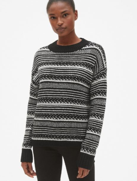 Gap Fair Isle Crewneck Pullover Sweater £54.95