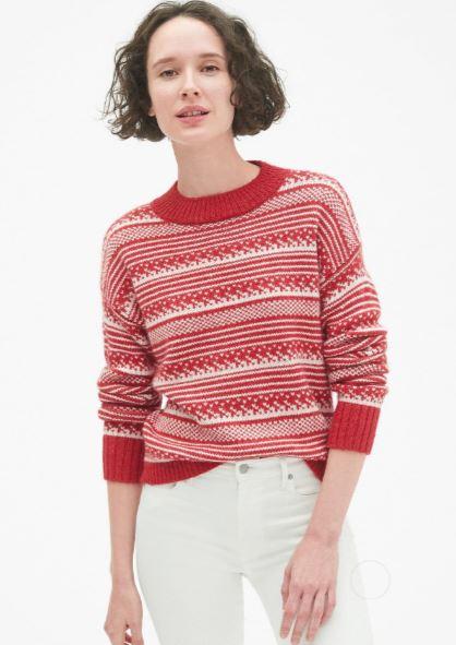 Gap Fair Isle Crew neck Pullover Sweater £54.95