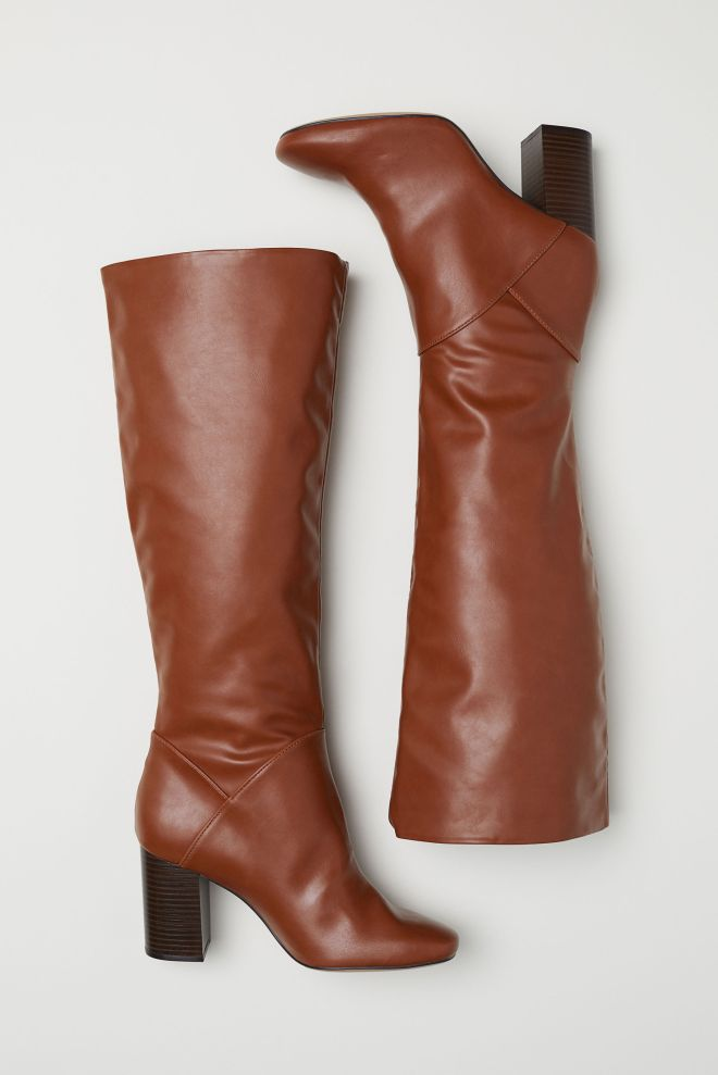 H&M brown faux leather boots £49.99