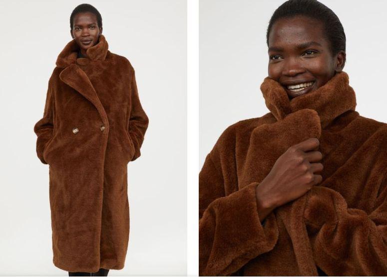 H&M Faux Fur coat £79.99