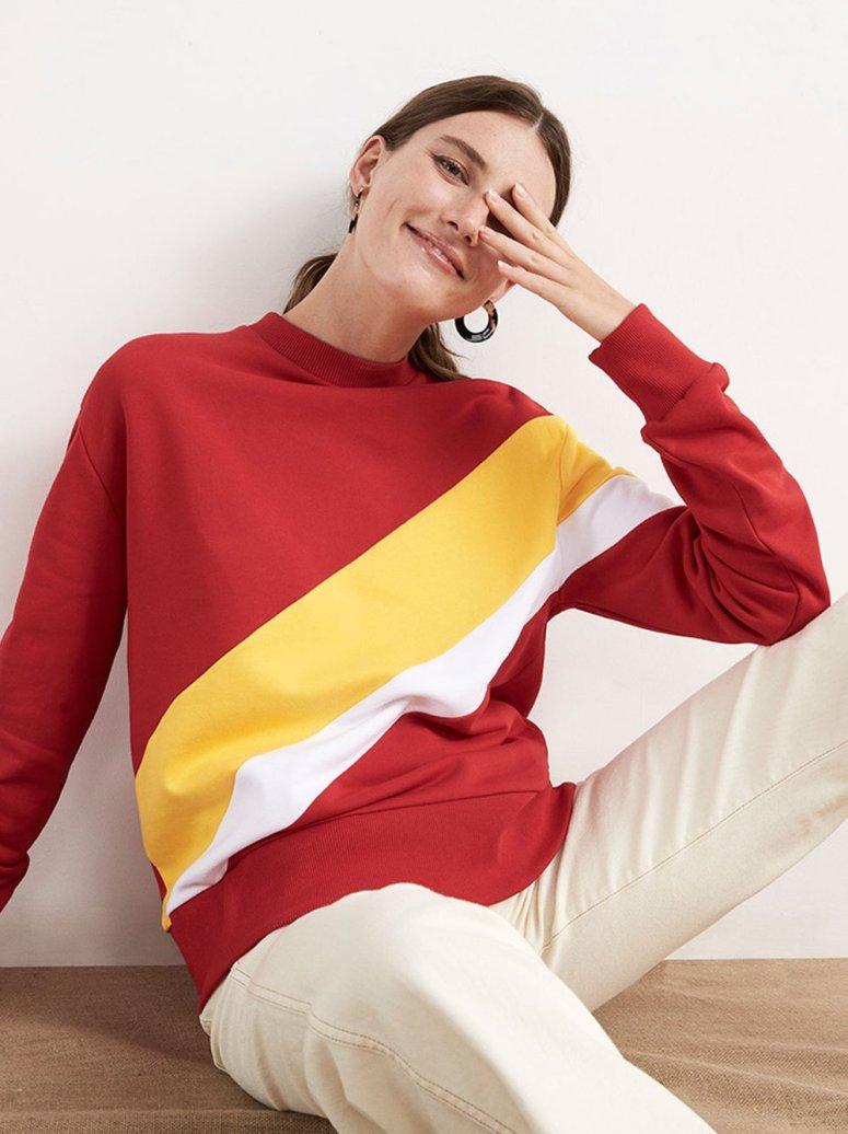 Jeanine Striped Sweatshirt £55