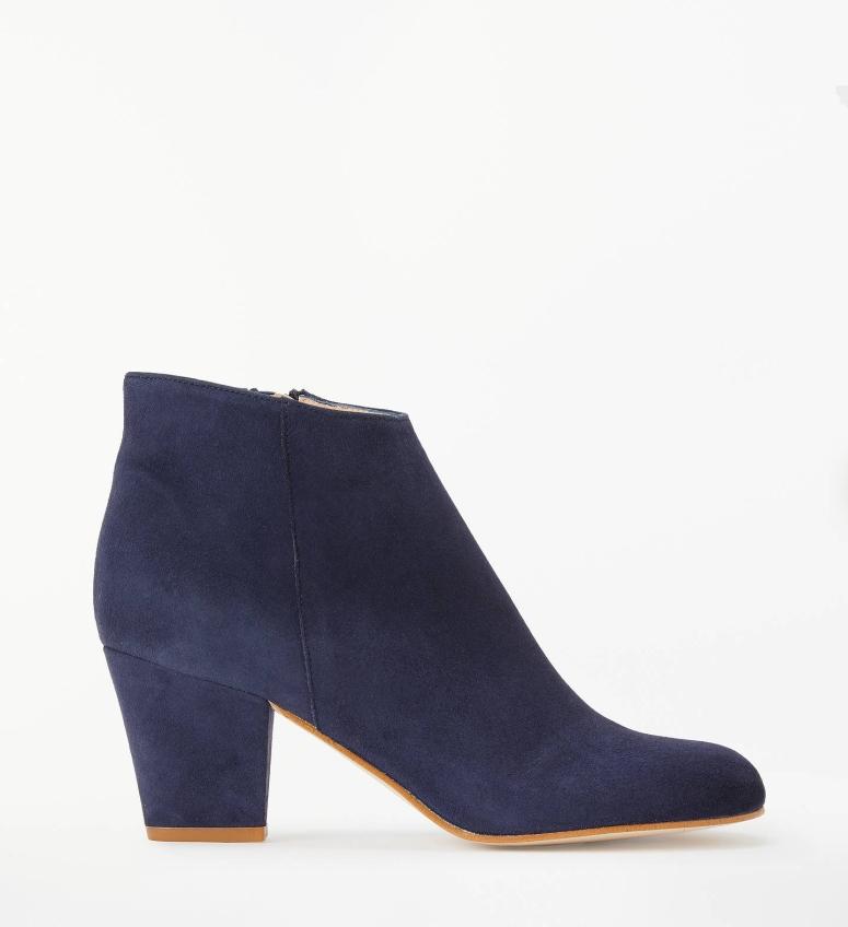 John Lewis & Partners Wilemina Shoe Boots, Navy Suede £99