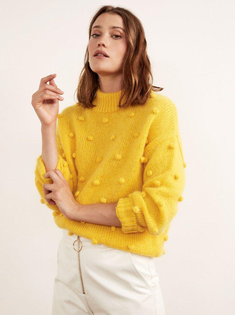 Josephine_Yellow_Mohair_Bobble_Sweater_Front_£145
