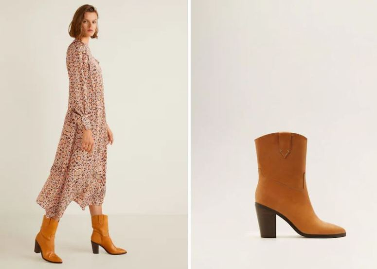 Mango Cowboy Leather Boots £99.99