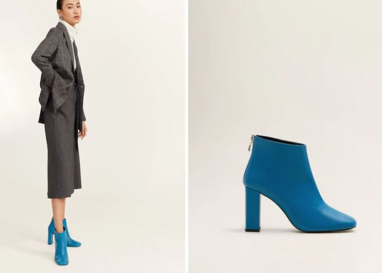Mango Heel Leather Ankle Boots £89.99