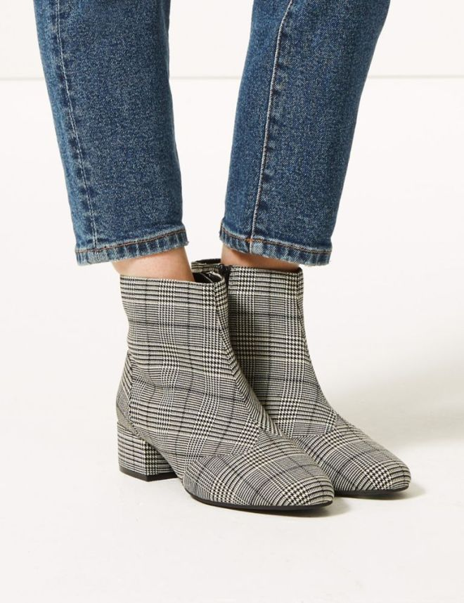 M&S Extra Wide Fit Block Heel Ankle Boots £39.50