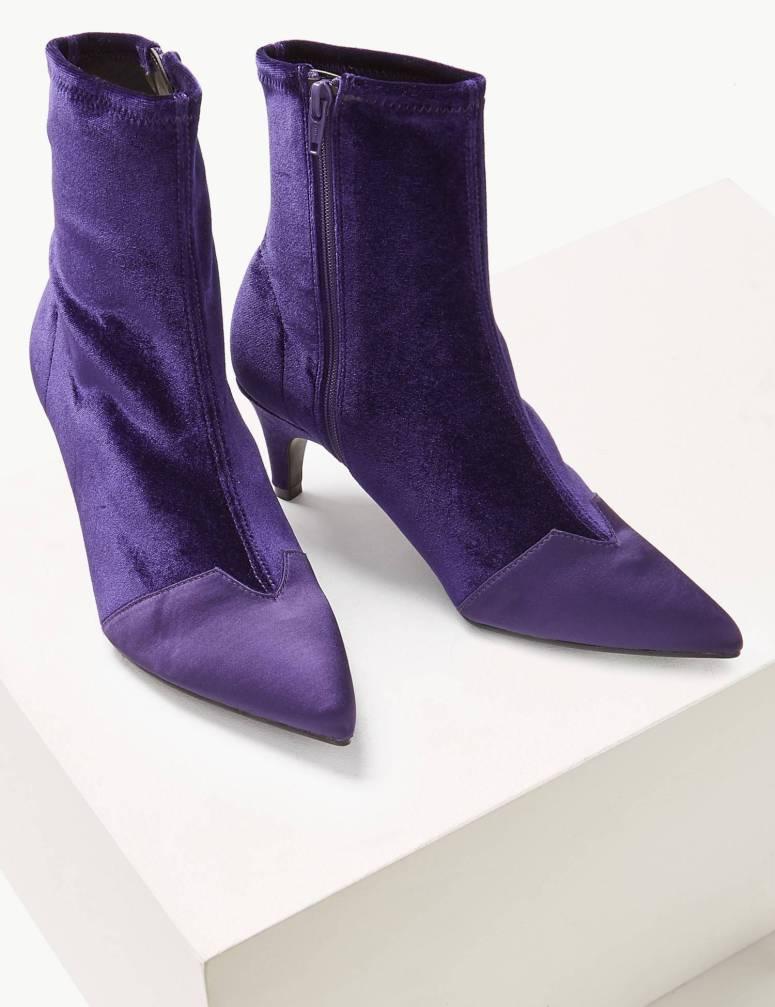 M&S Kitten Heel Side Zip Ankle Boots £39.50