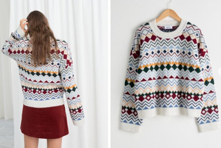& Other Stories Fair isle Knit Sweater £69